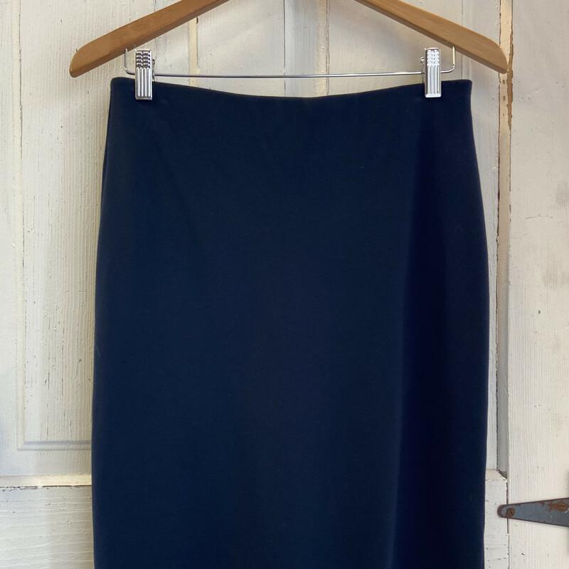 Navy Zip Back Skirt