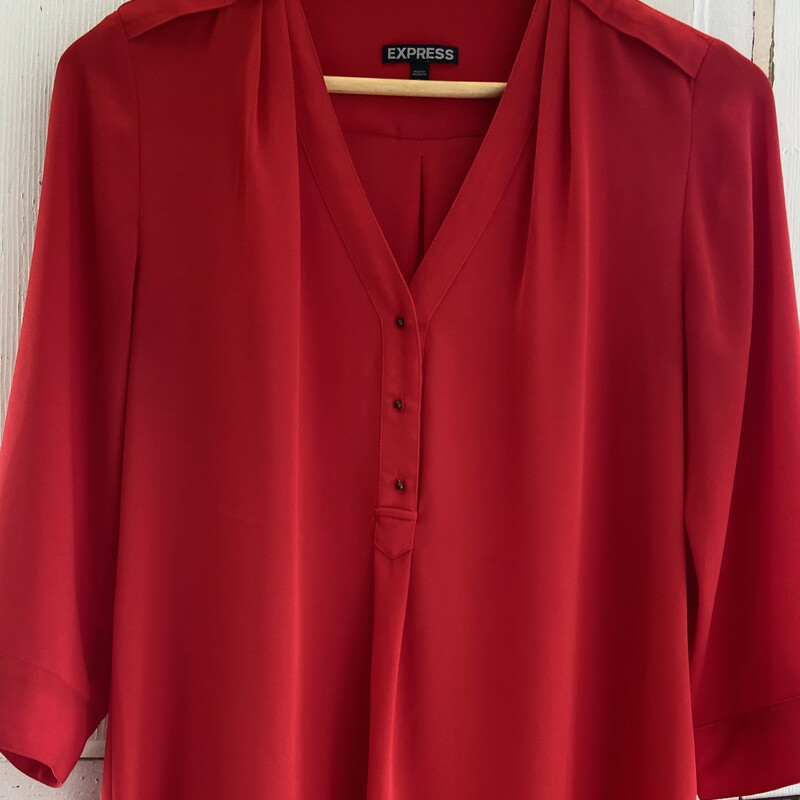 Red Dressy Button Top