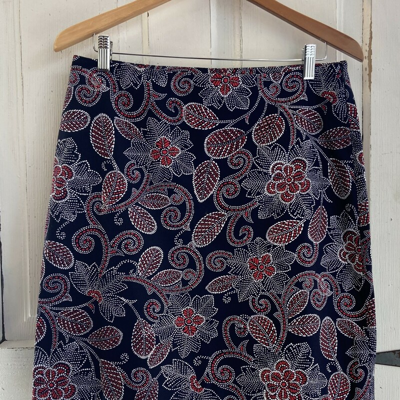 Nvy/red Pattern Skirt