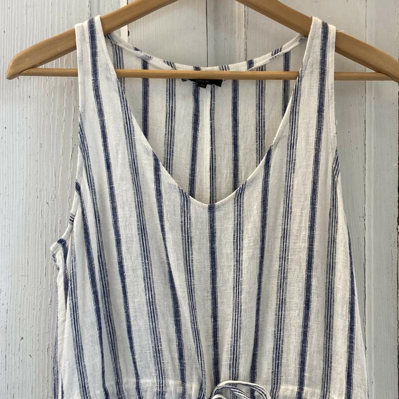 Linen Blue Stripe Slvlss