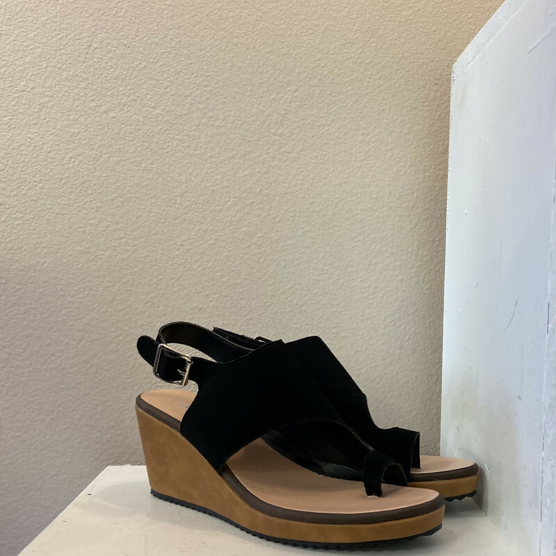 NEW Black Wedge Sandal