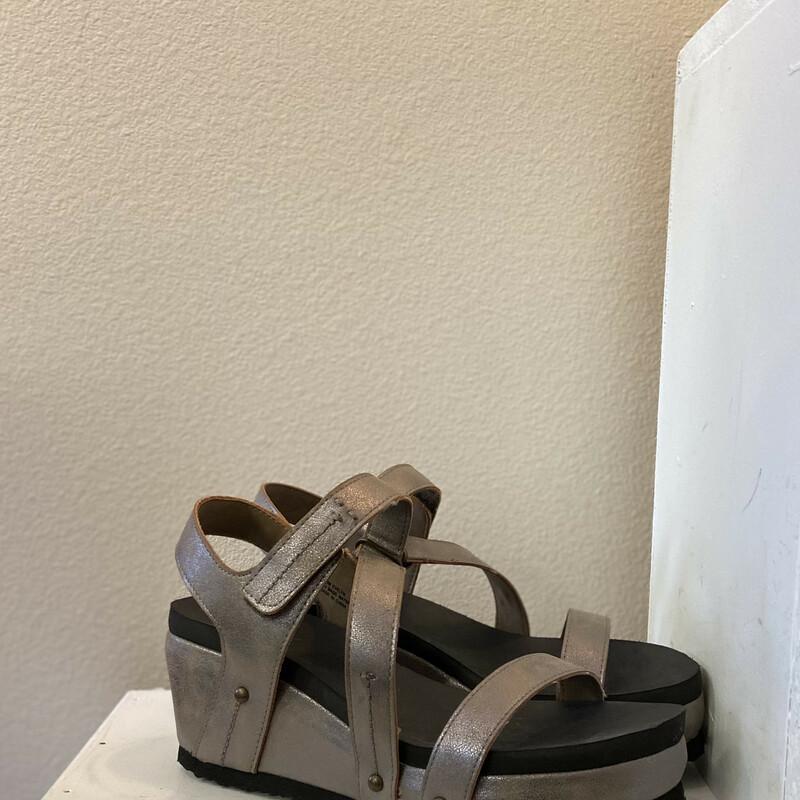 Pewter Wedge Sandal