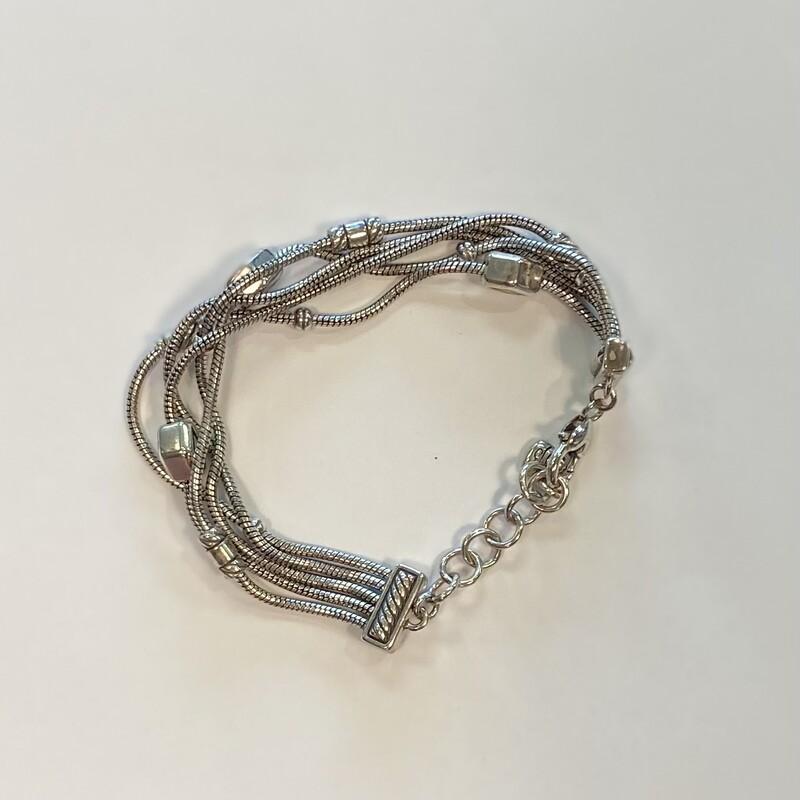 Silver Multi Strand Brace