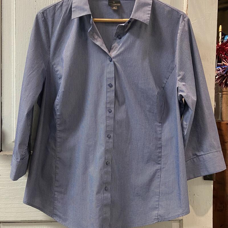 Nvy Stripe Button Shirt