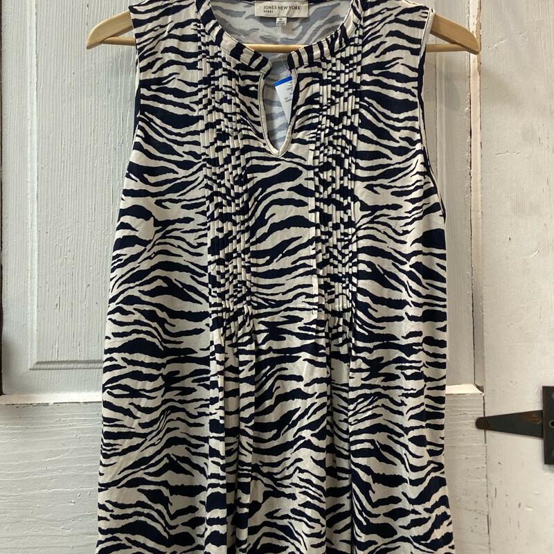 NWT Nvy/sand Zebra Slvles