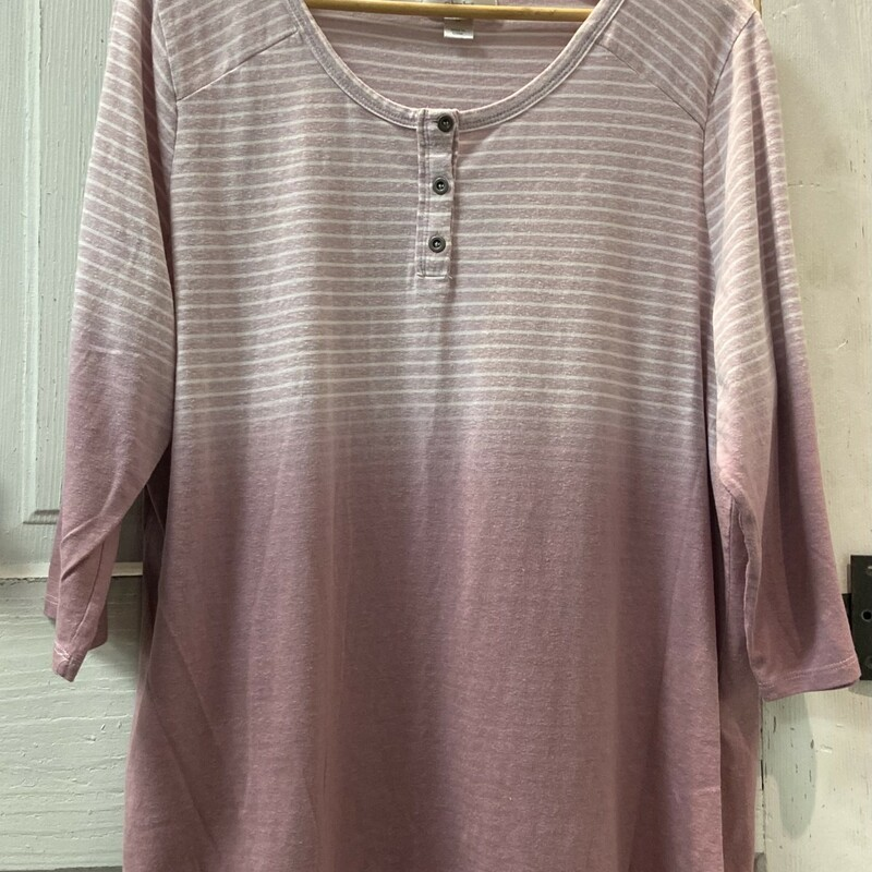 Lilac Stripe Ombre Henley