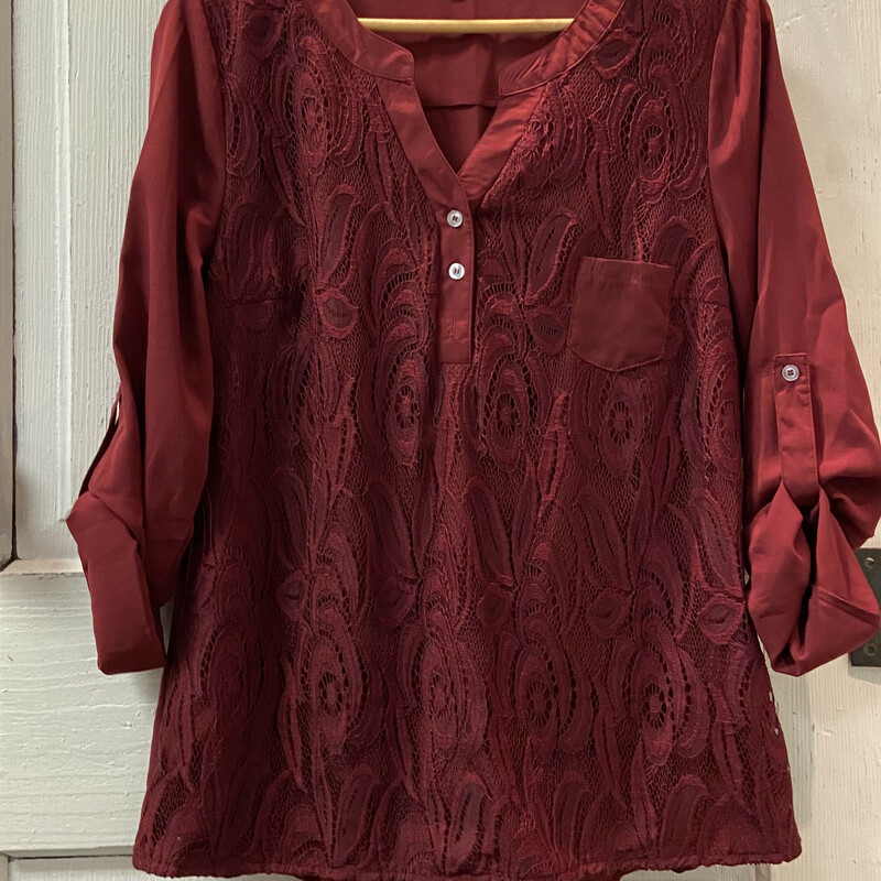 Maroon Lace Dressy Top