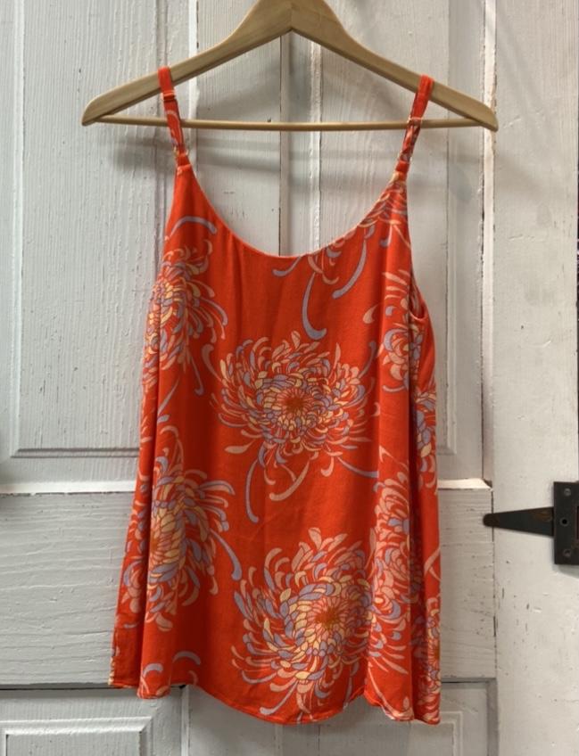 Orange Pattern Cami Tank<br /> Orange<br /> Size: Medium