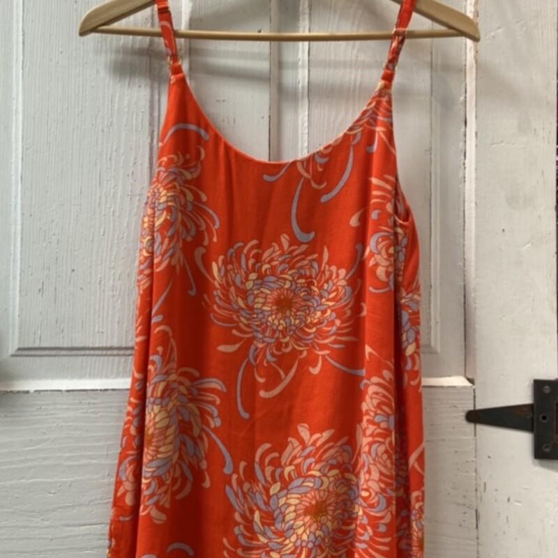 Orange Pattern Cami Tank