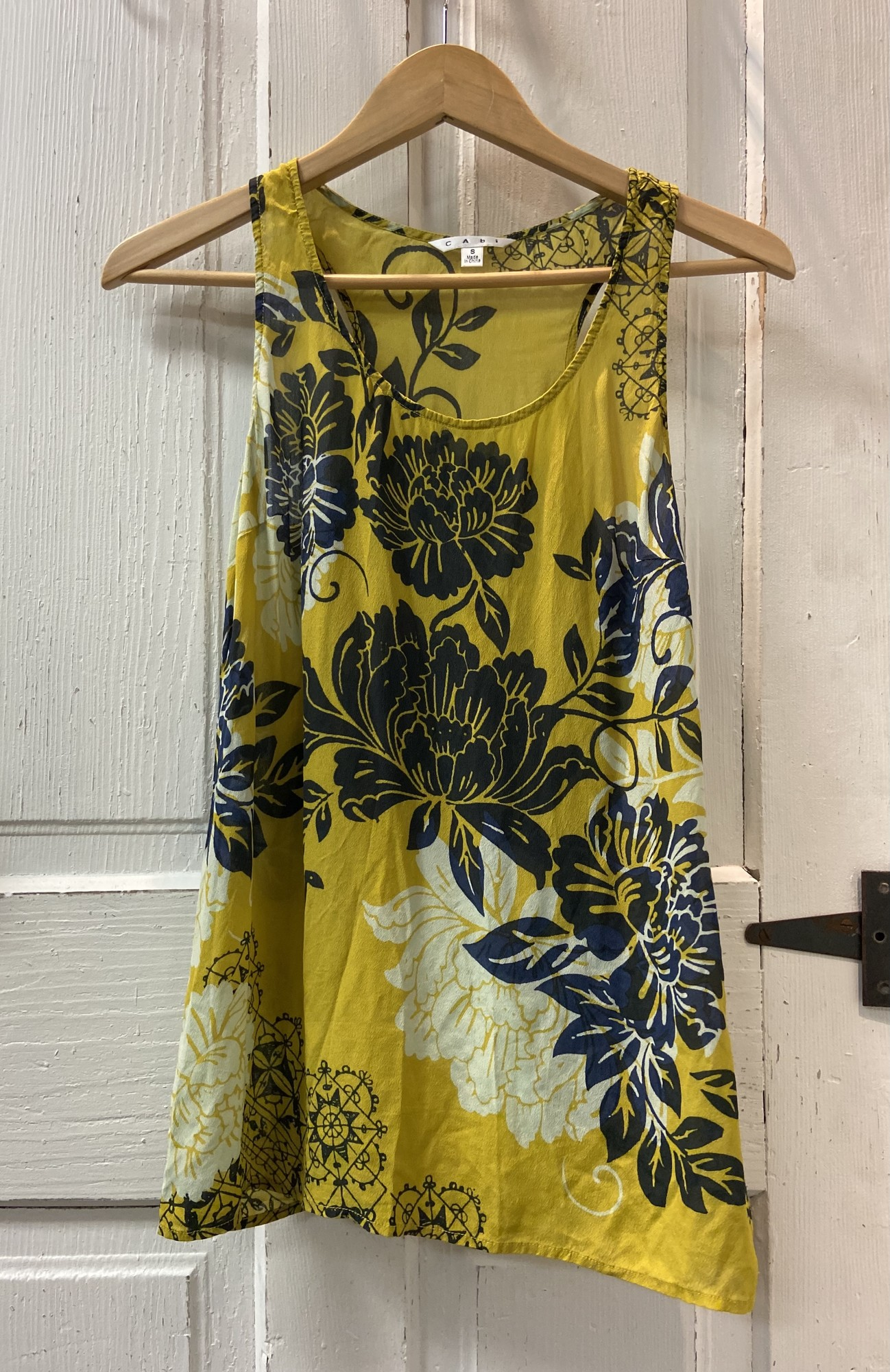 Lime/blk Floral Sheer Tnk<br /> Lime/blk<br /> Size: Small