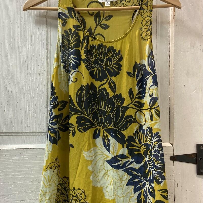 Lime/blk Floral Sheer Tnk