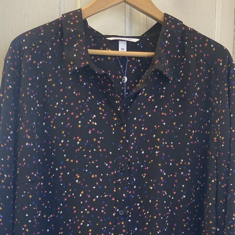 NWT Blk Star Button Shirt