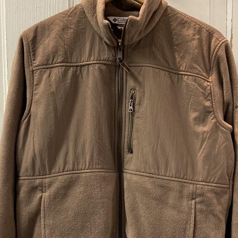 Brown Fleece Zip Up