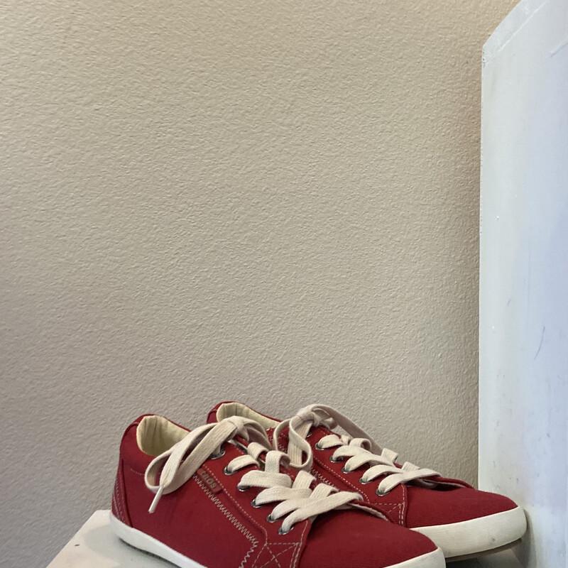 EUC Red Tie Sneakers