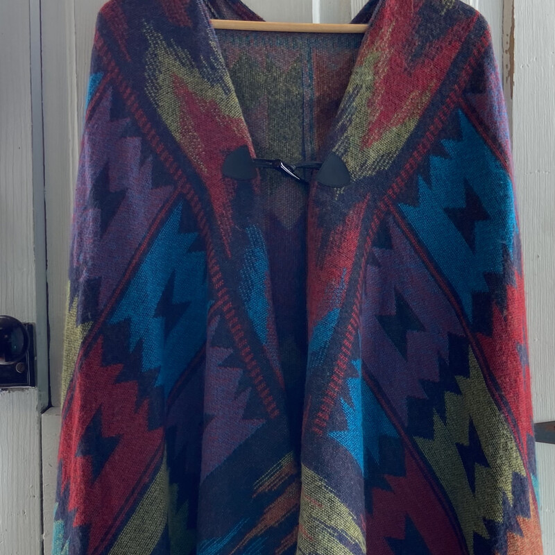 NWT Turq/red/red Pat Cape
