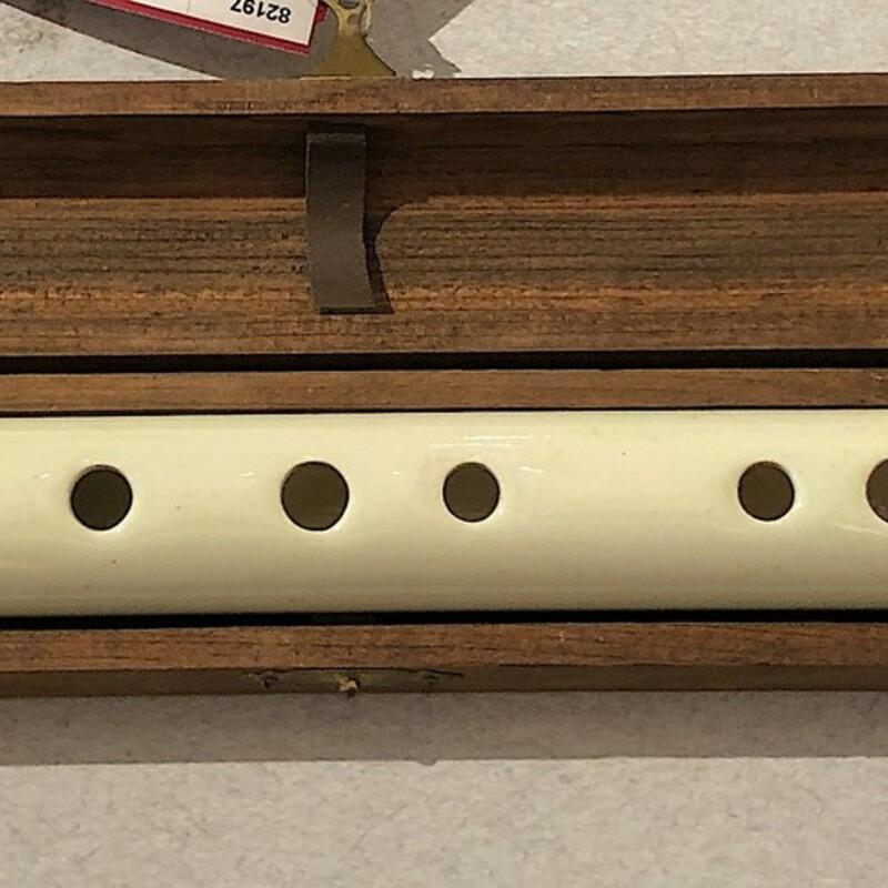 Ceramic Flute with Wooden Box & bag Size: 3 Pcs