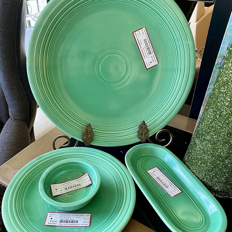 """Platter Round  Size: 14\"""" D Also available: 10\"""" Plate Item #84175, $18"""