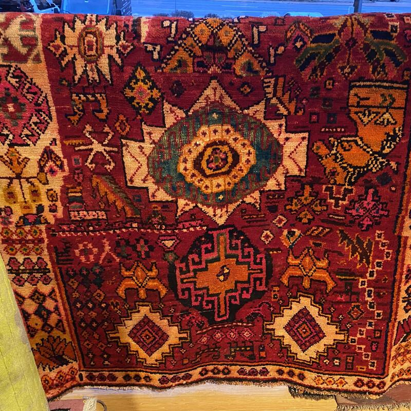 "Persian Shiraz  Rug, Size: 3'8\"" x 5'4\"""