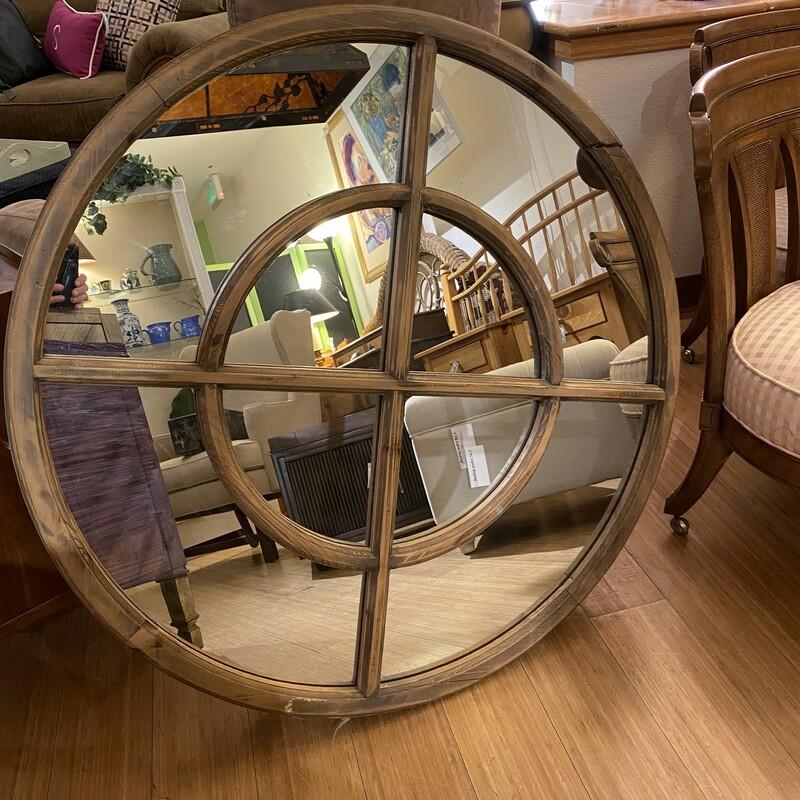 "Mirror Uttermost, Wood, Size: 38\"" D"
