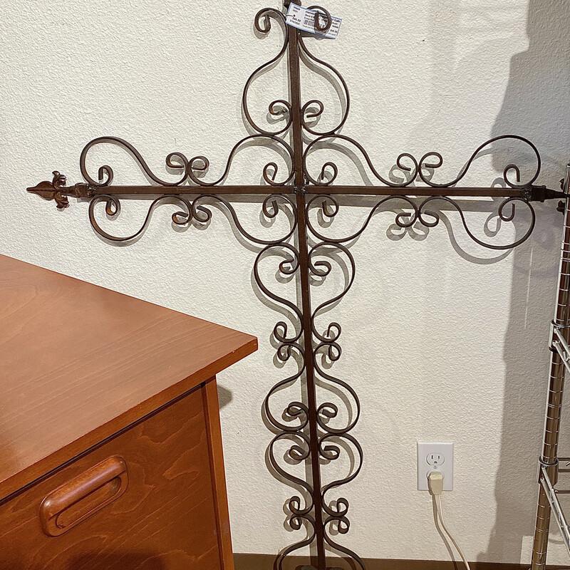 Ornate Metal Wall Cross Size: 38x51