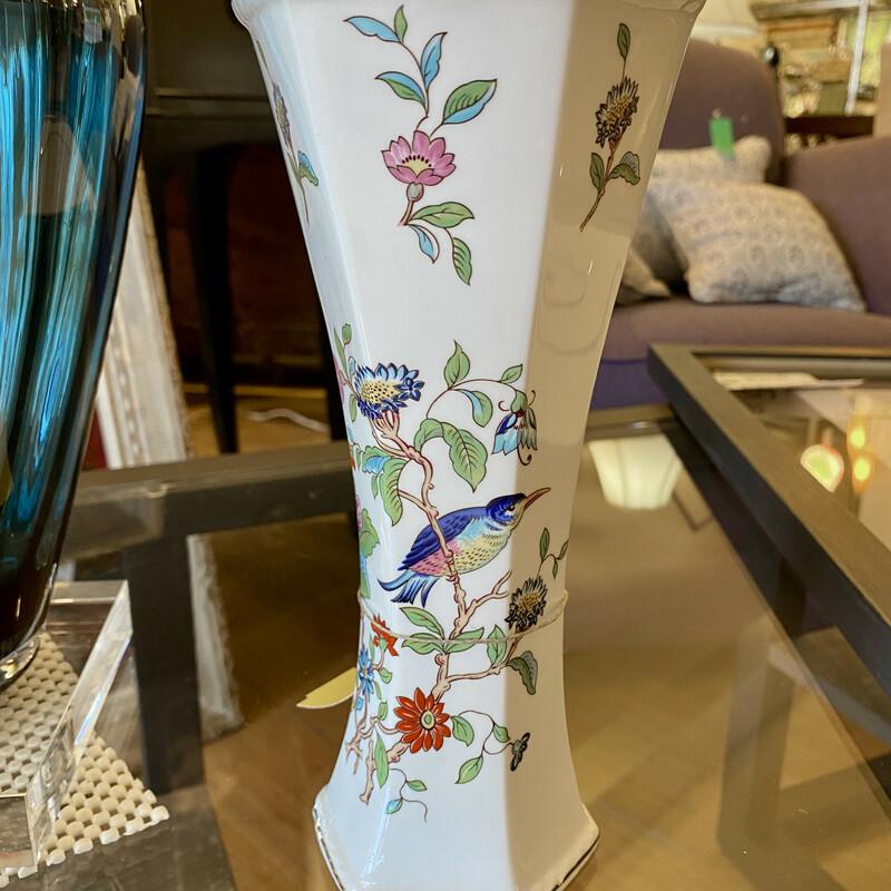 "Aynsley Pembroke Floral Vase Size: 9\"" Tall"