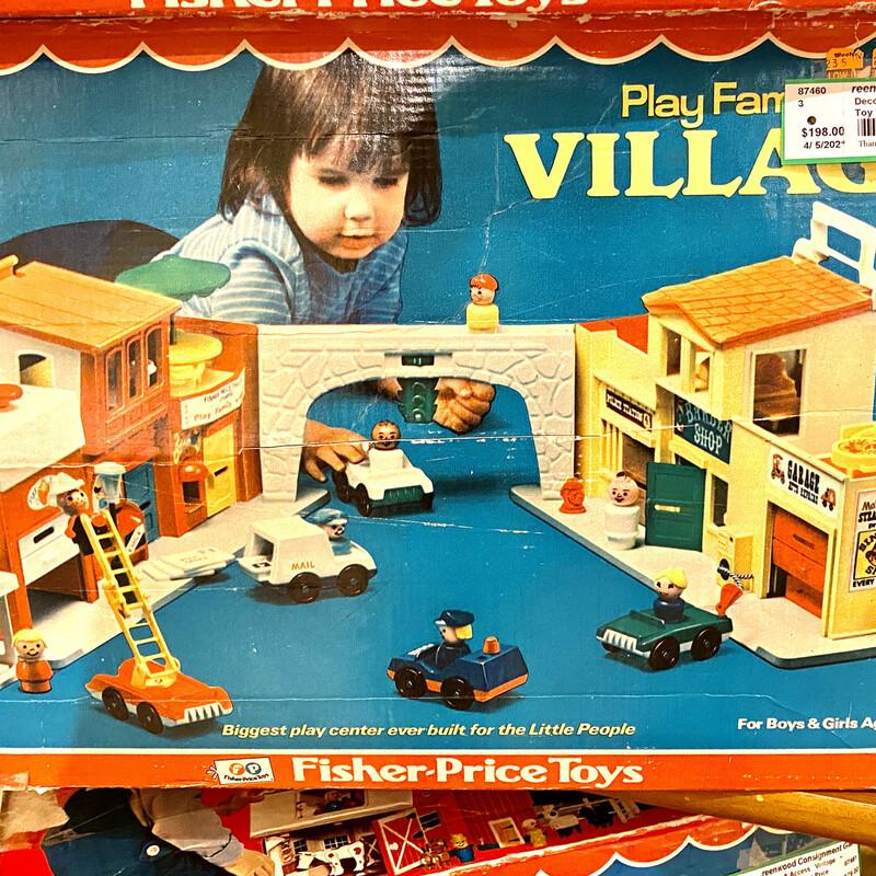 Toy Family Village, Vintage, Fisher Price Vintage