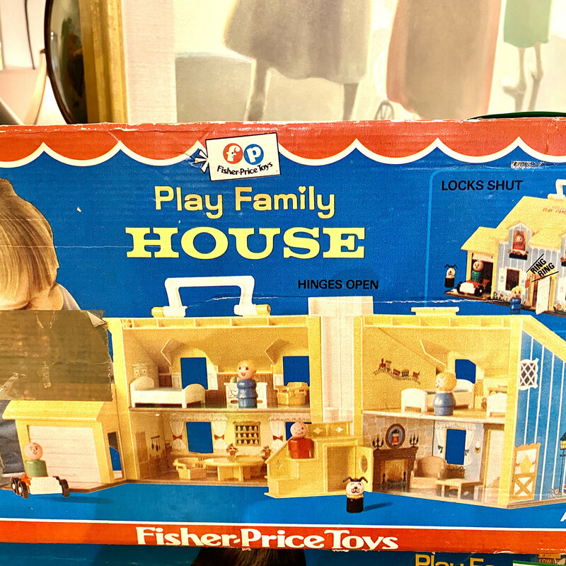 Toy House Fisher Price, Vintage,
