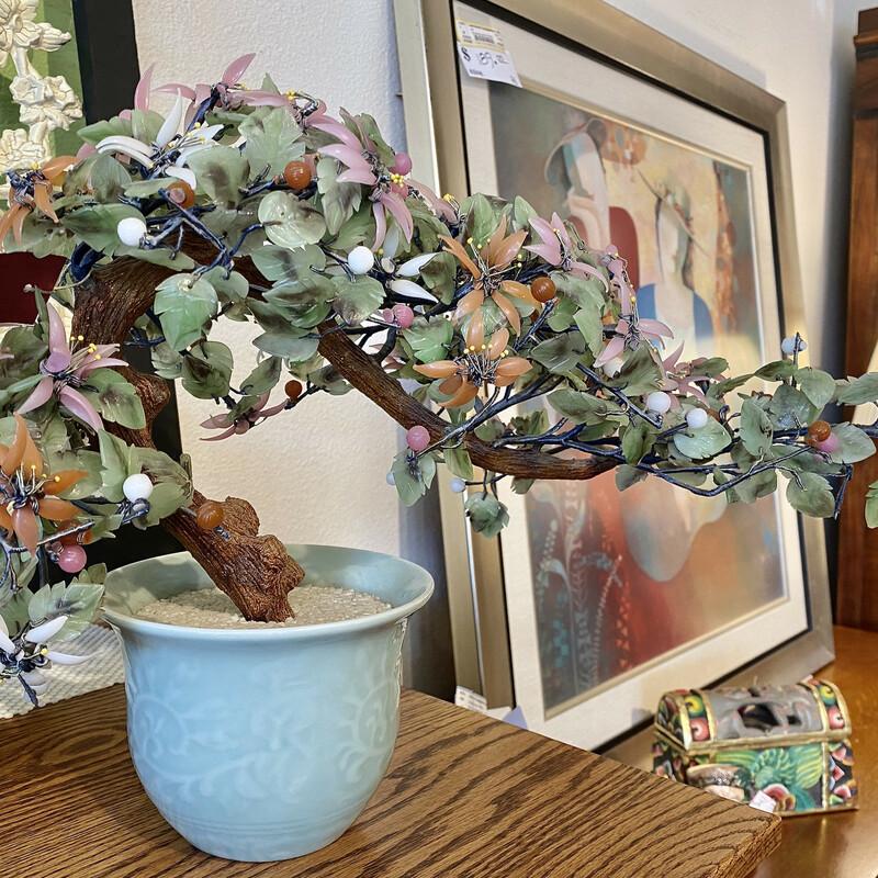 Mid century Glass Bonsai Cherry Tree Size: 19x13