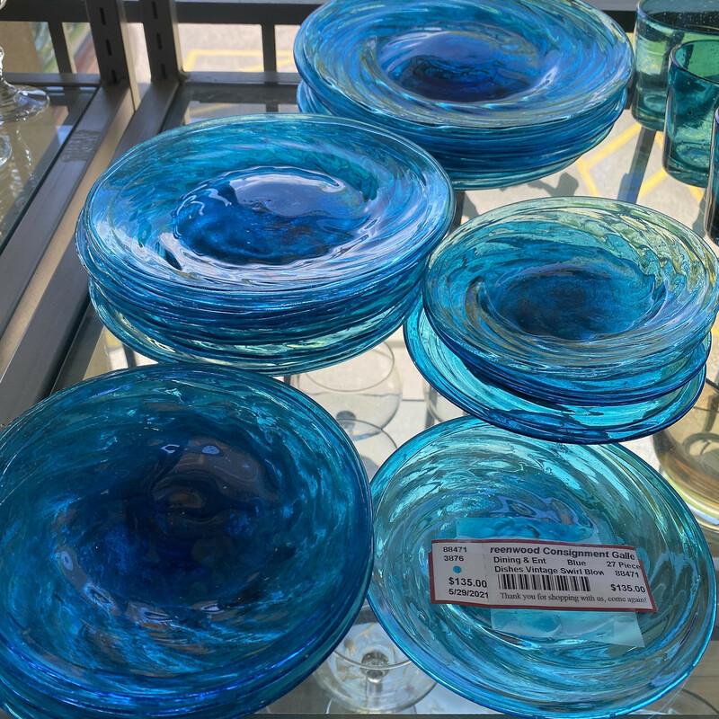 Dishes Vintage Swirl Blow