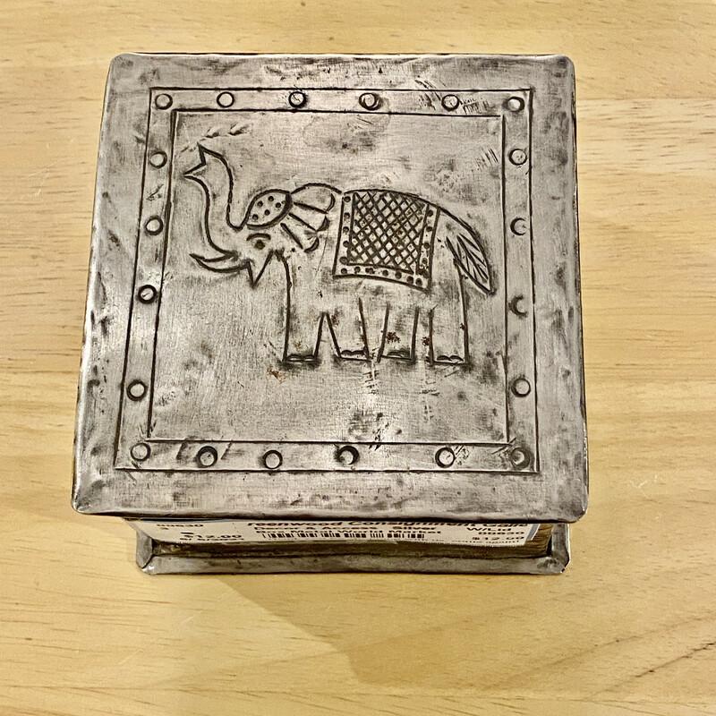 Cute little metal trinket box - World Market