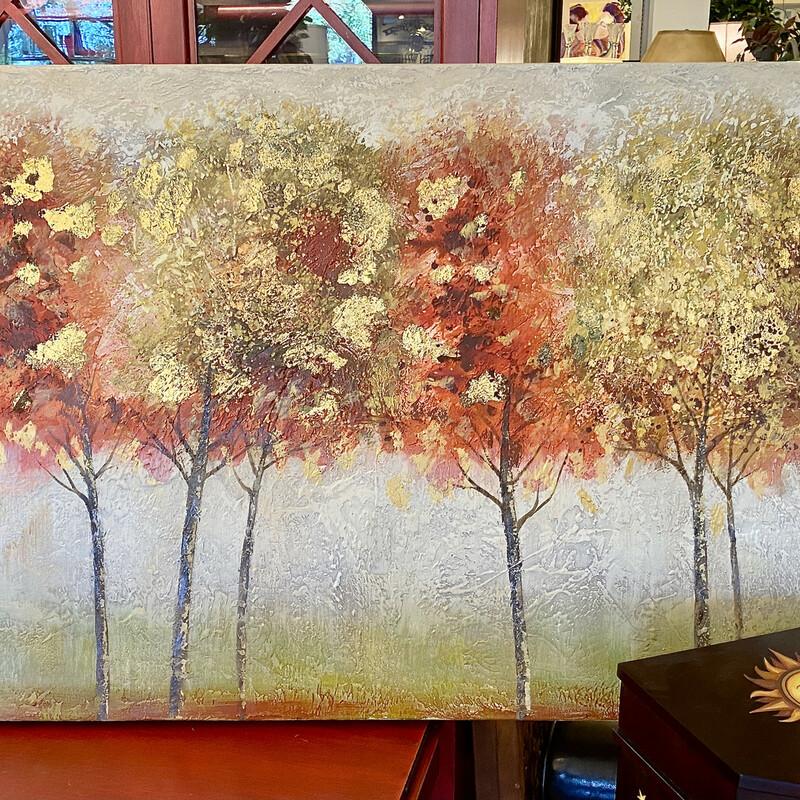 Canvas Trees Gold Splash