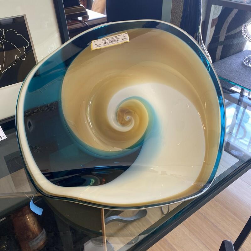 Bowl Swirled Teal & Brown