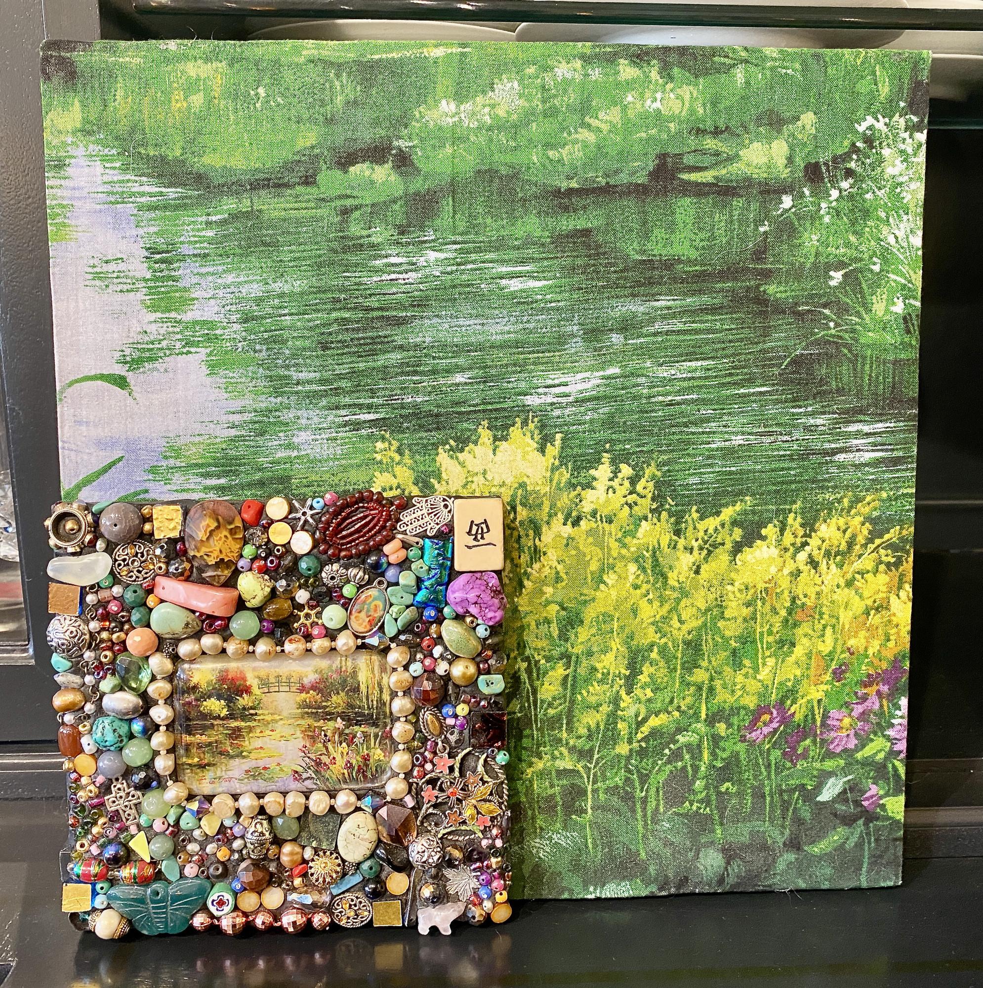 "Local Artist mosaics art<br /> Size: 12\""sq."