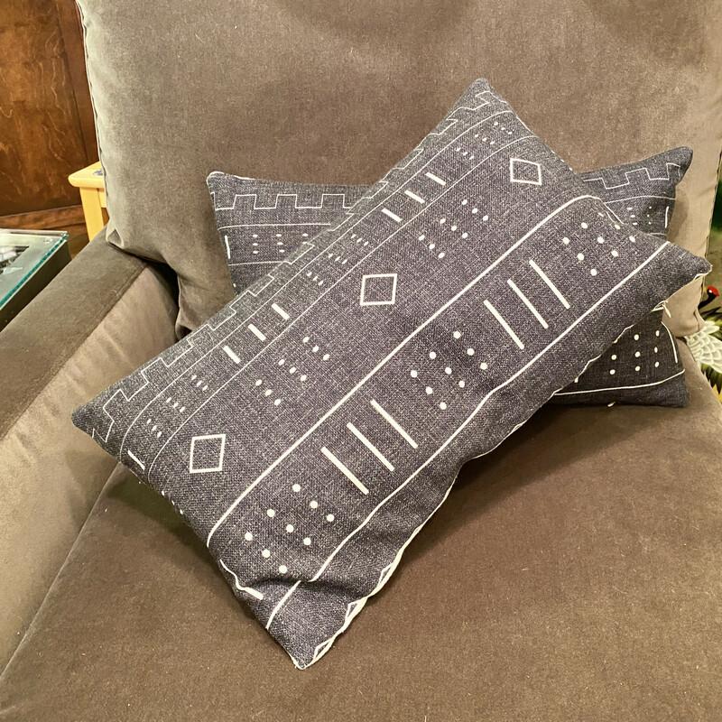 Pillow Accent, Grey, Size: 12x20 Matching pillow, #89436 $33