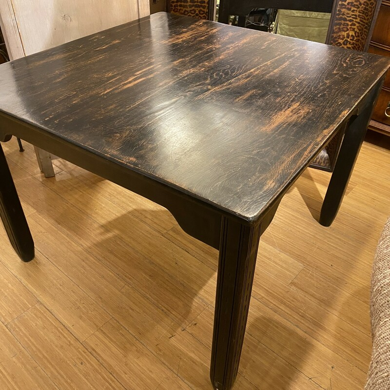 Dining Table, Vintage, Wood, Size: 41x41x30