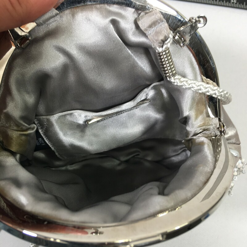 116-092 Beaded Bag, Grey, Size: Mini Bags