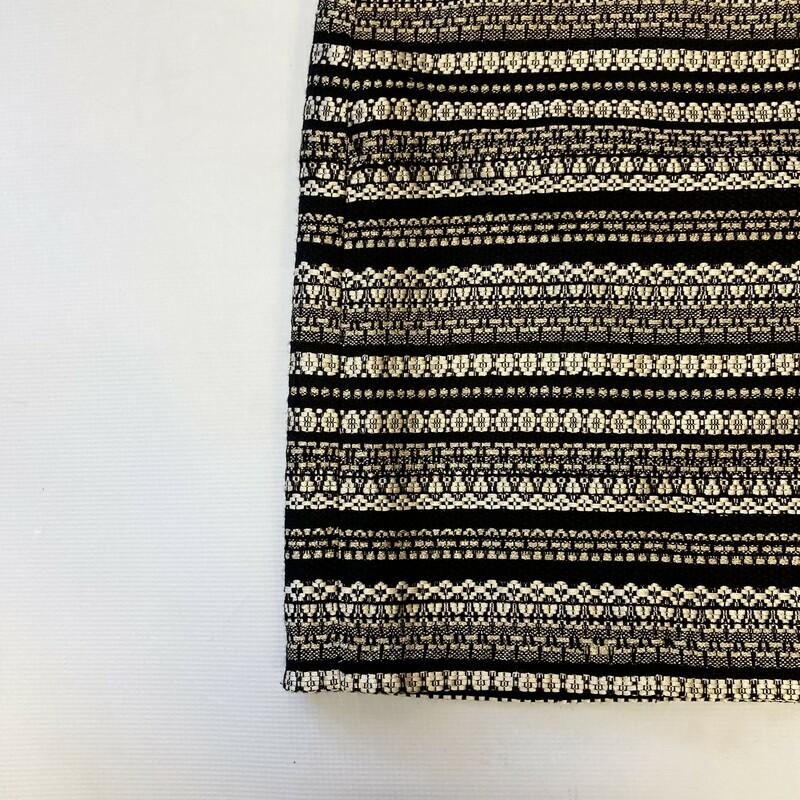 J Mclaughlin Skirt, Black & Glod, Size: 14