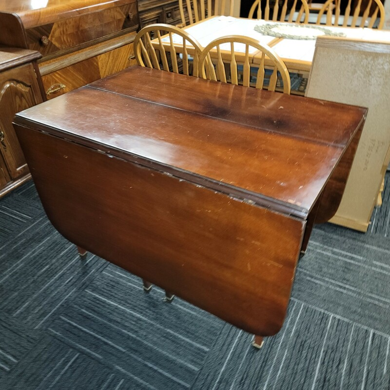 Mahogany Dropleaf Table.  Has some finish wear.
