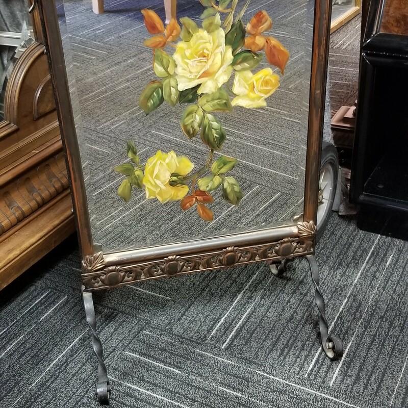 Vintage Painted Mirror Wi